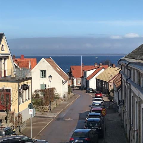 Centralt rum ovan Hamnen Båstad