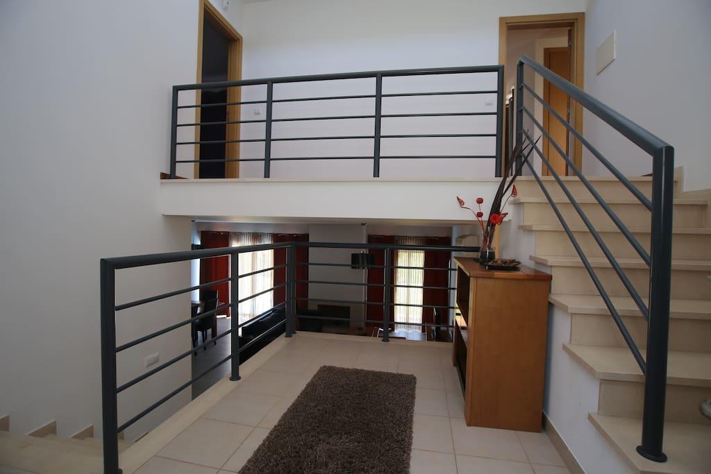 Split level entrance hall