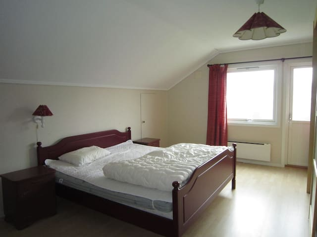 Spacious double bed in the room