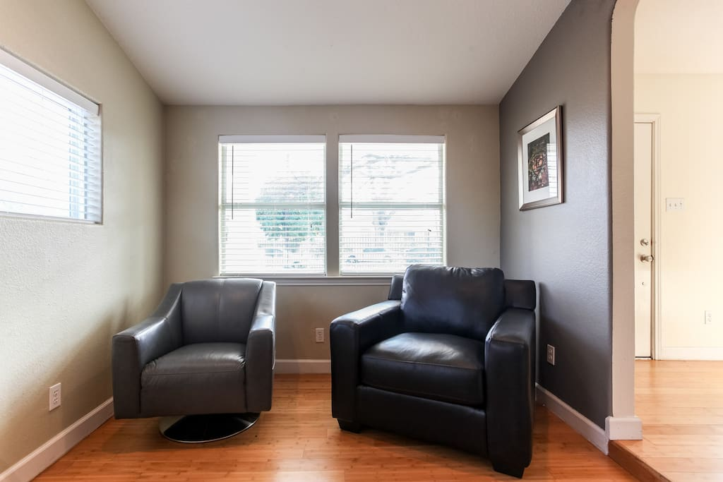comfortable seating for reading and relaxing