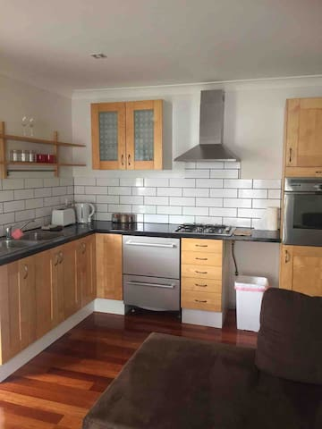 Fully equipped kitchen in bungalow