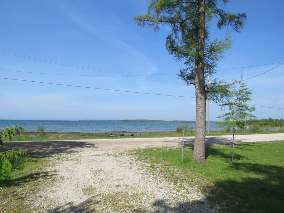 View of Lake Huron from the cottage