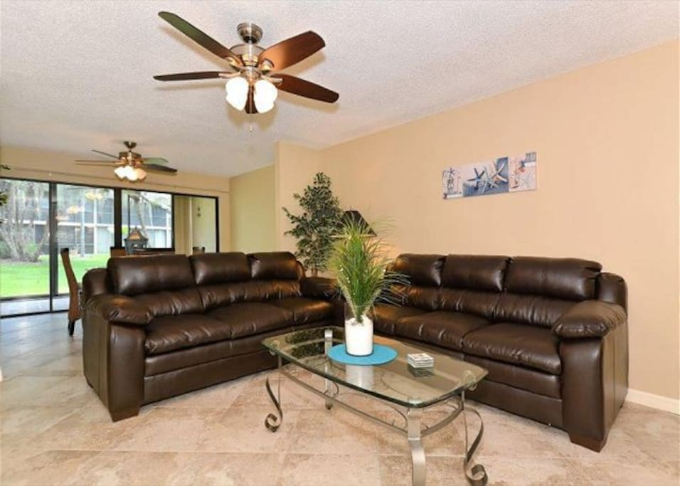 Open Plan, Leather Couches