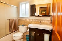 Downstairs Bathroom #2 with shower / bath combo