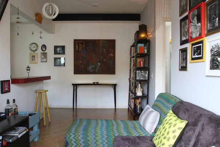 apartamento charmoso e artístico de uma fotógrafa