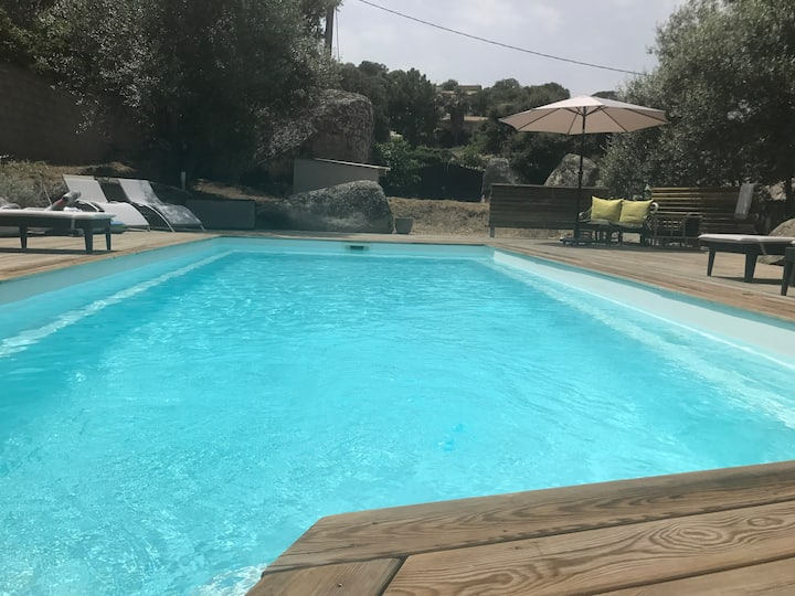 villa lieu calme centre ville 65m² 2/6p piscine co
