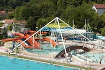 Varaždinske toplice-open and closed pool's with termal woter (18km)