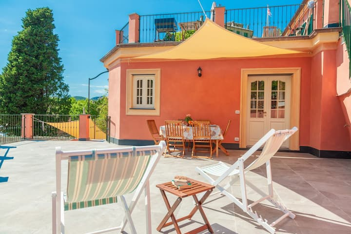 Polpo, apartment for 6, with terrace, 200m from beach, in Levanto centre 11017LT610
