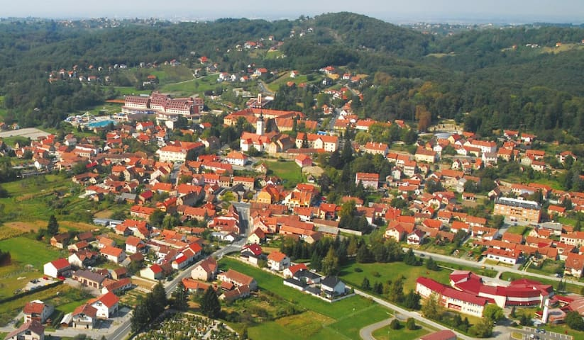 Varaždinske toplice- the view from air (18km)