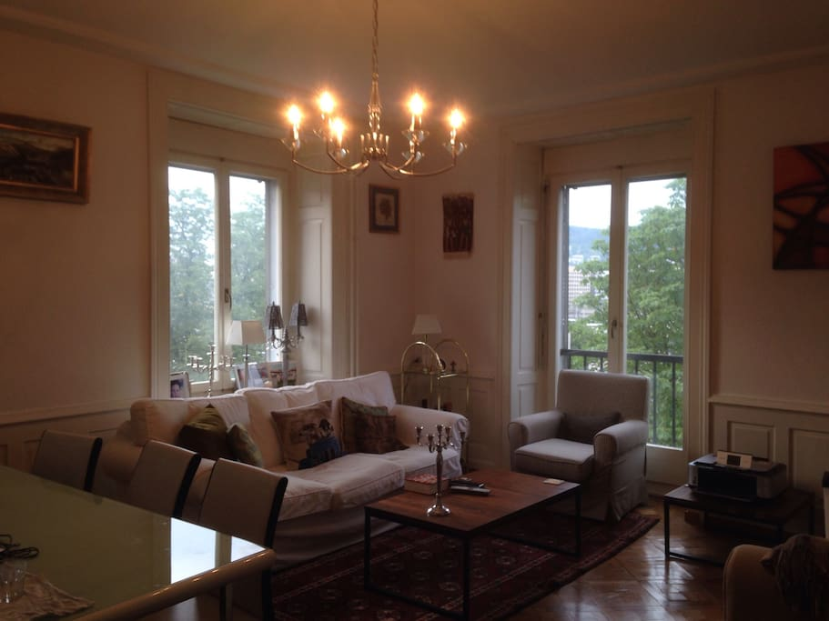 Bright, well lit and spacious living room