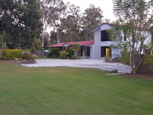 Large bedroom in country home on 5 acres with pool