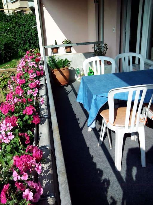 Haus & Balkon steht zur freien Benutzung