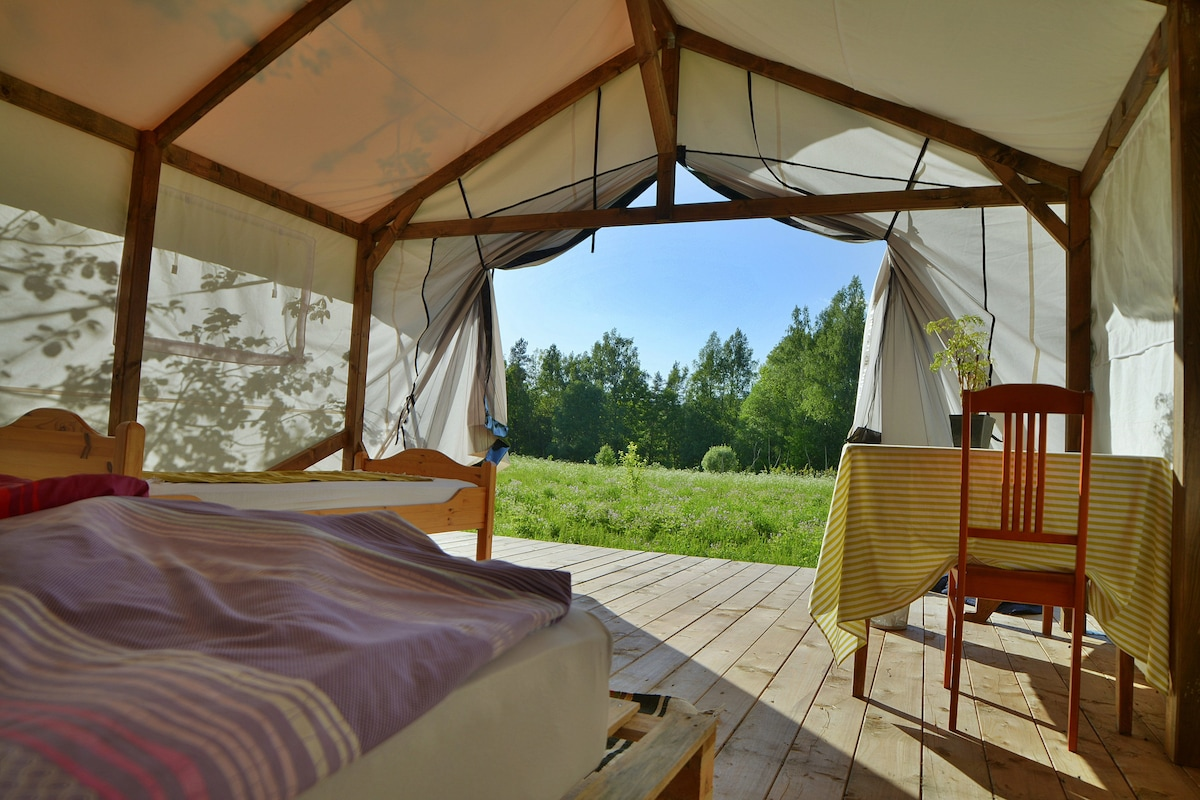 2.tent 2.tent & 4. Tent Glamping Klaukas - Tents for Rent in Sigulda Sigulda ...
