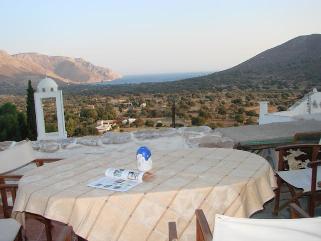 Traditional house in Tilos with fan