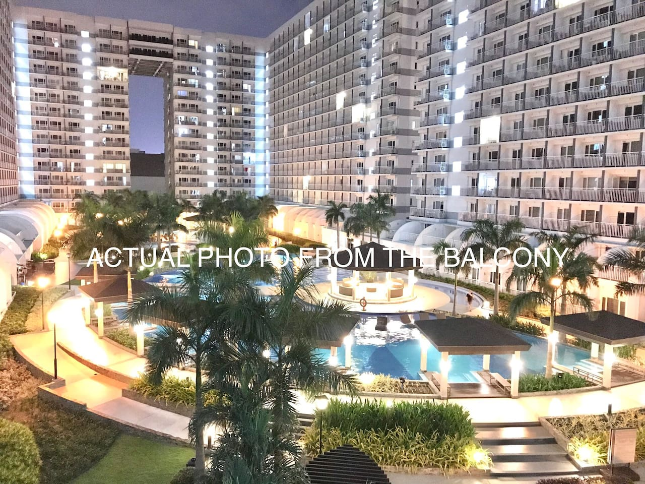 ACTUAL PHOTO FROM THE BALCONY. Welcome to SHELL Residences! Winner--Best Landscape Architectural Design