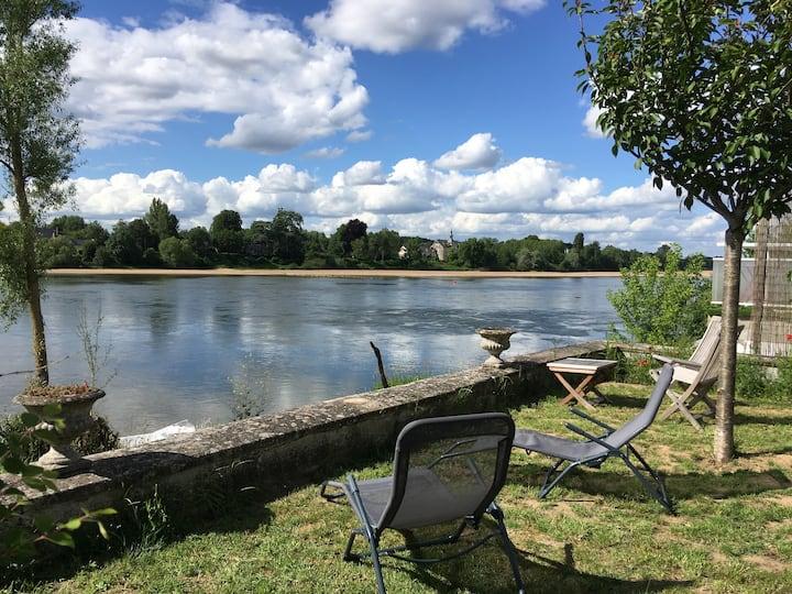 Les Lombardières : maison au bord de la Loire