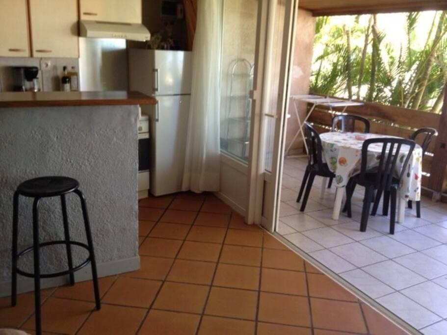 coin cuisine+terrasse