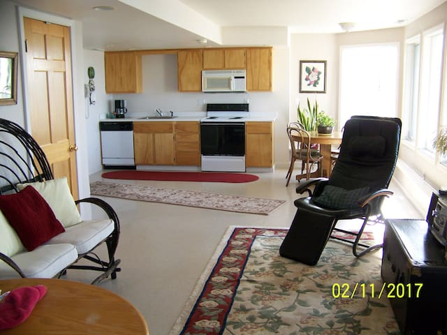 Waterfront View Daylight 1-Bedroom Apartment - Fox Island