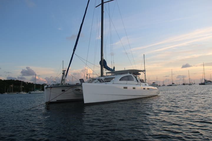 Lani, comfortable catamaran in clear waters