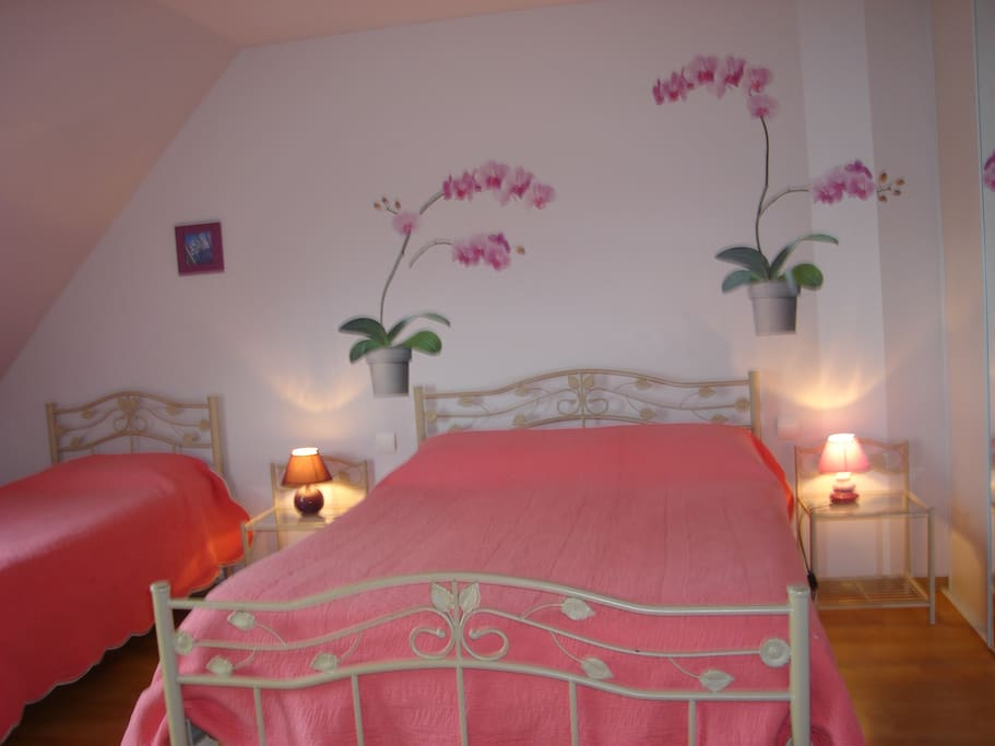 CHAMBRE ORCHIDEE 3 PERSONNES