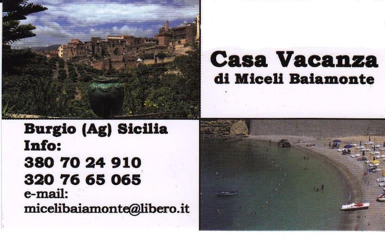 Casa Vacanza di Miceli Baiamonte - Burgio - Wikt i opierunek