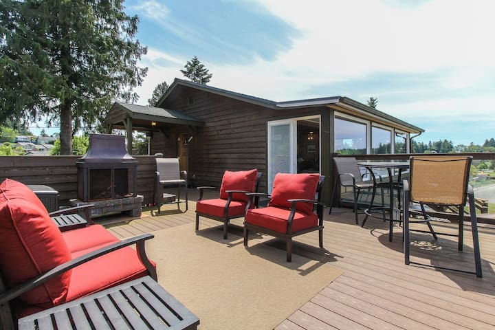 Waterfront home with stunning natural views and private hot tub!