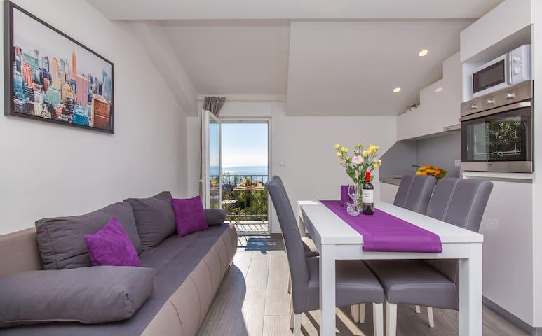 modern living room in SUNSET APARTMENT