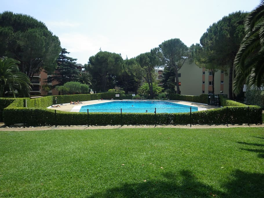 2 pieces vue parc et piscines appartements louer for Piscine mandelieu