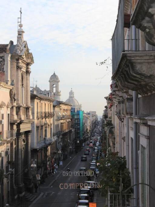 vista di Catania dalle camere
