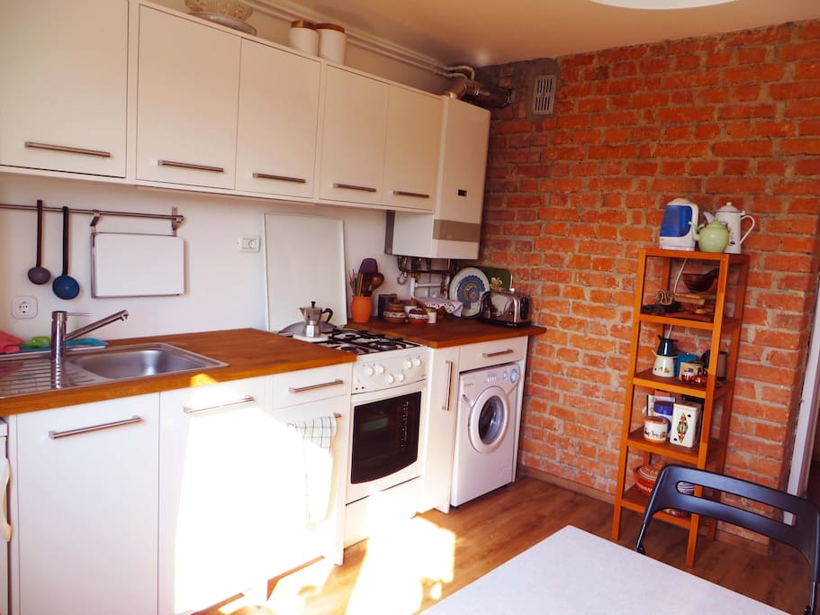 The kitchen is fully renovated and has everything you could need.