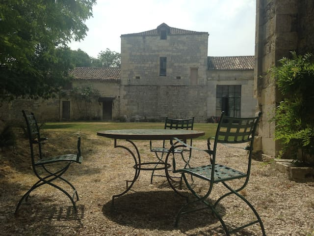 small chateau in private grounds with great views