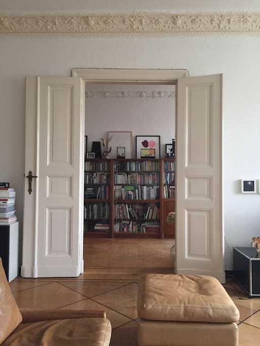 Living room into library