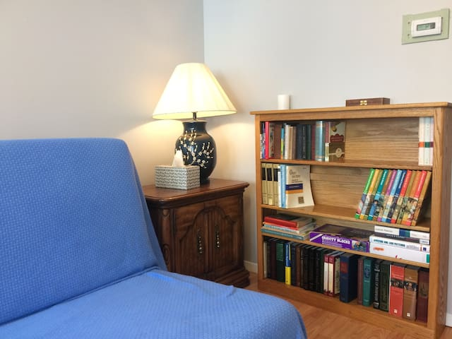 Bookshelf & Chinese Lamp