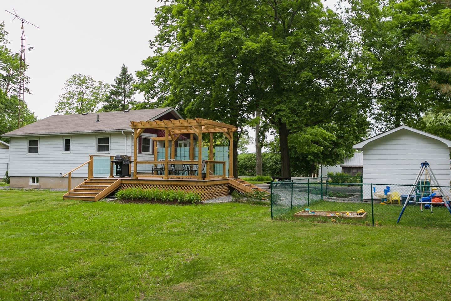 Private one acre property for family fun, room for everyone to play and relax.