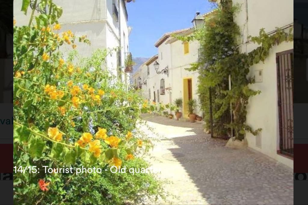 Charming street's view of Historical Town of Altea...