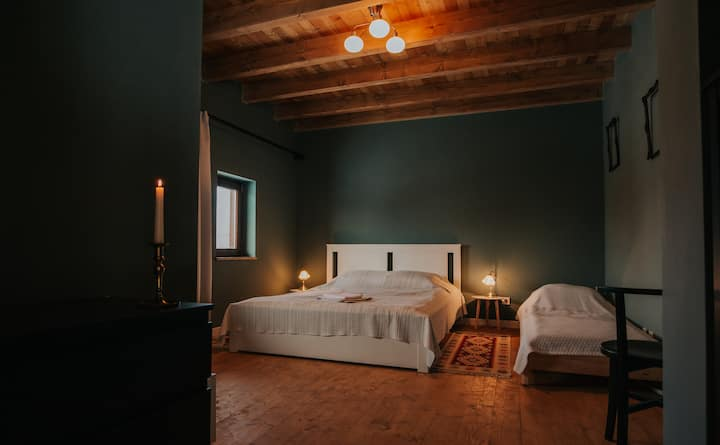 Private room in the old wooden barn