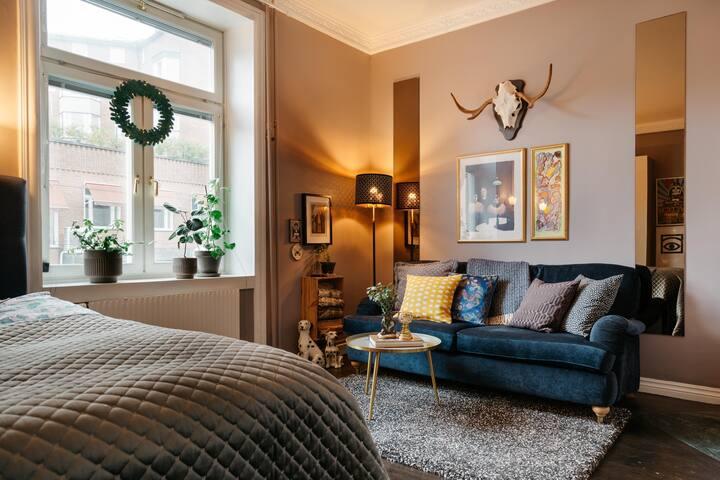 Hip studio apartment in Stockholm cozy Gröndal