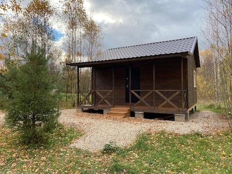 Уютный дом с террасой на природе