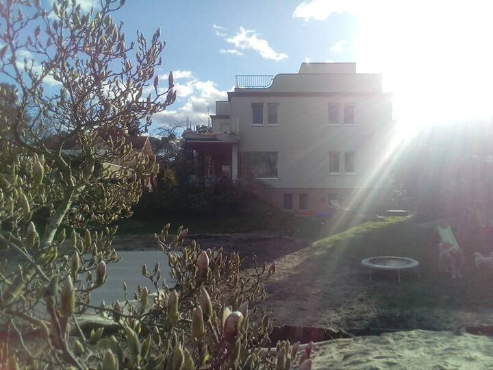 Villa mit Wannseeblick und Tieren