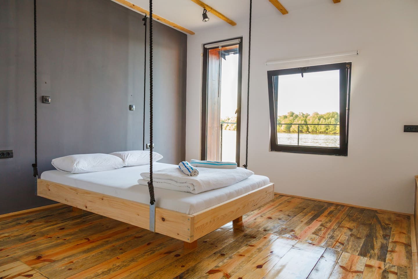 Studio with floating bed -River view