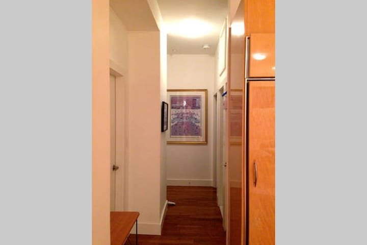 Hallway leading to large 1 BR with King-size Bed