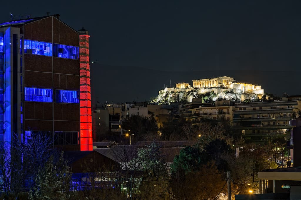 View of Acropolis and Technopolis