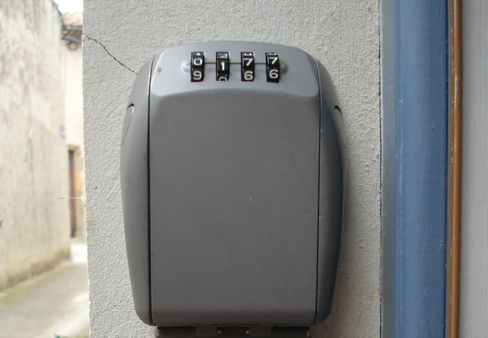 Un coffre de clé pour arriver quand on veut.
