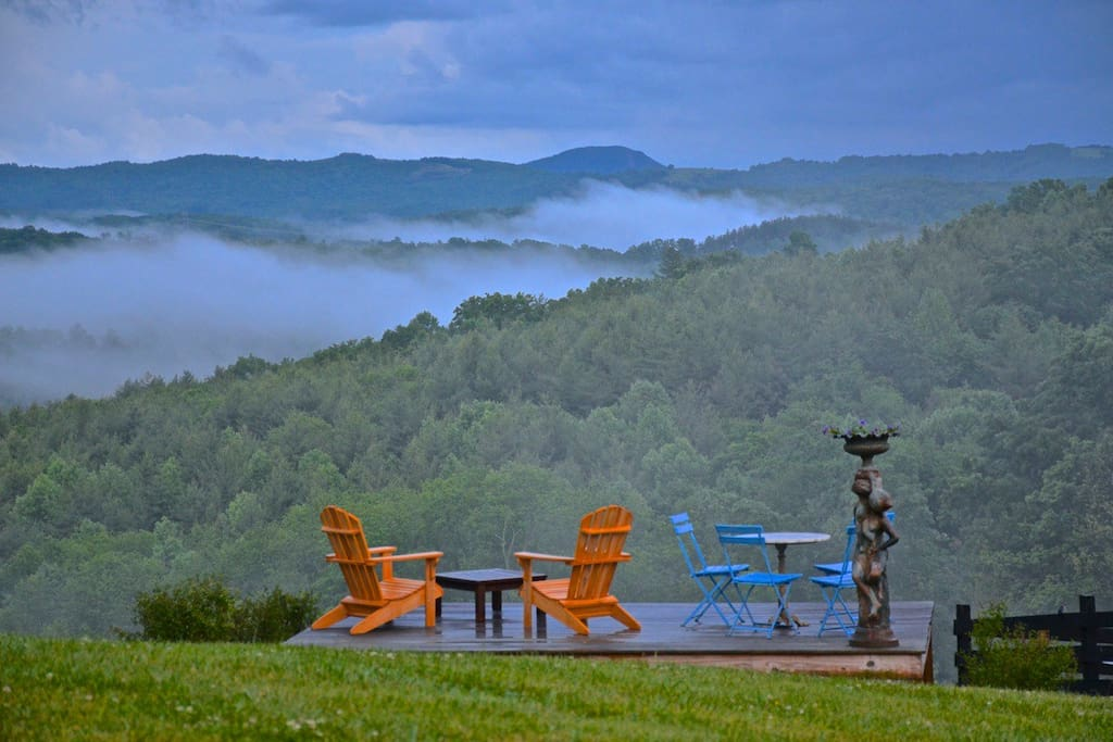 The view to Buffalo Mountain from Johnny's Knob at The Fountain Cottage.