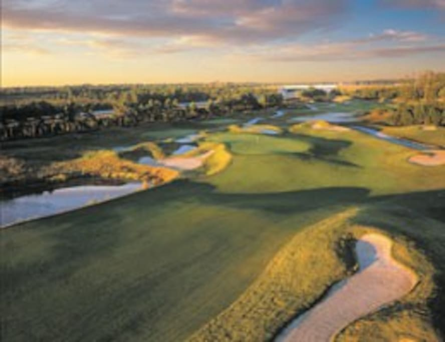 One of the many area golf courses - a golfer's dream