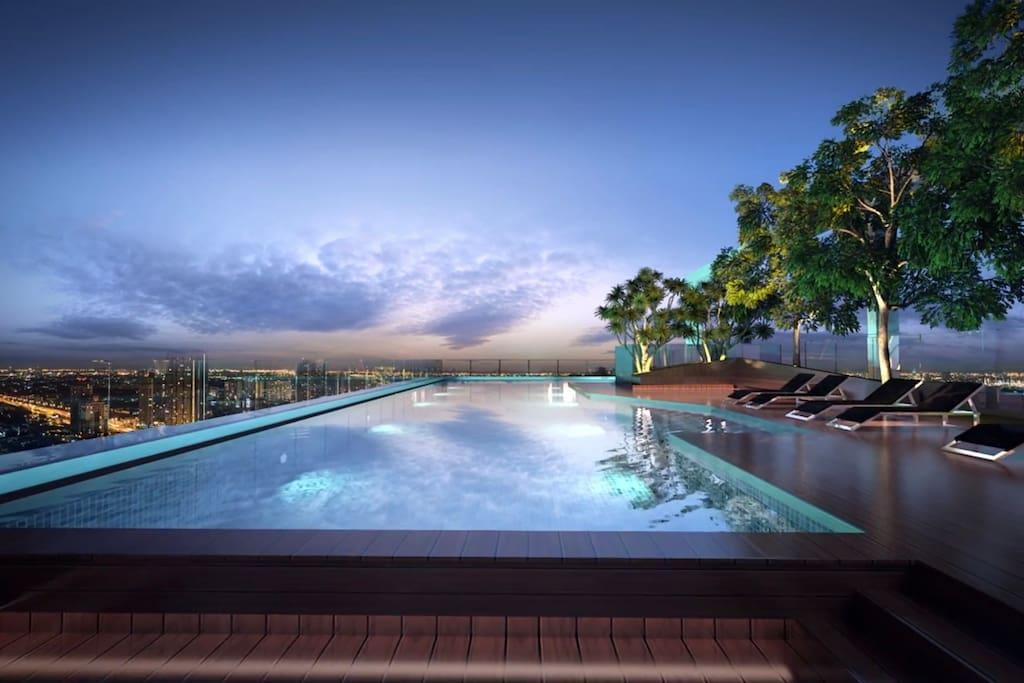 180degree sky park pool (180度无边泳池)