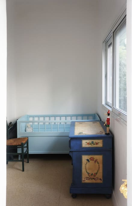 baby / child room with beautiful daylight, next to parents room