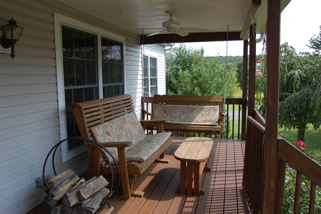 Front porch glider and swing