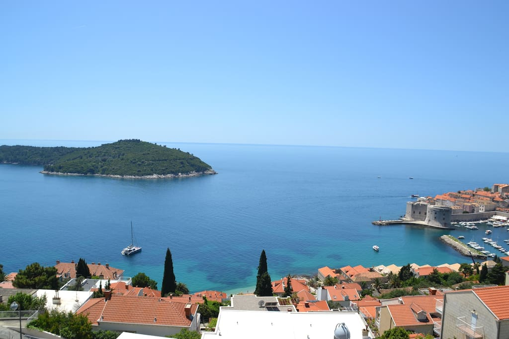 View from the terrace on the Lokrum Island
