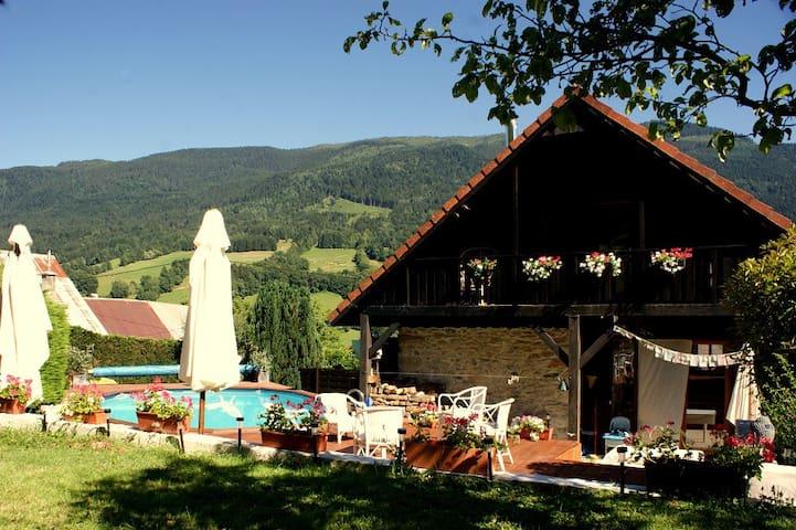 Chambre P avec jardin & piscine au coeur des Alpes - Theys - Guesthouse